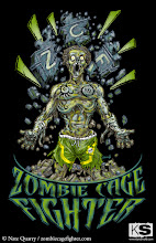 Photo: Zombie Cage Fighter t-shirt that I did for Nate Quarry.