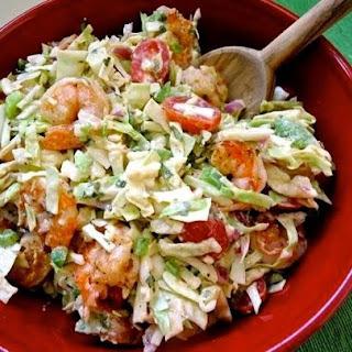 Shrimp and Cabbage Slaw with Louisiana Rémoulade