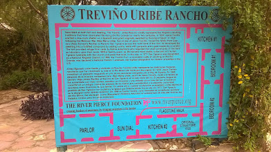 Photo: San Ygnacio - Trevino Uribe fort - sign with map - River Pierce Foundation