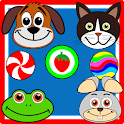 Pets & Candy. Cute animals icon