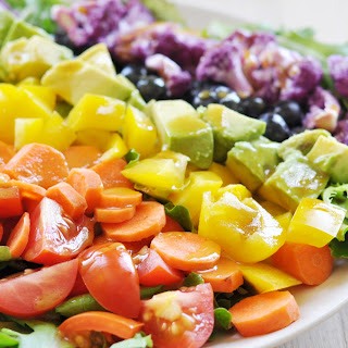Rainbow Salad with Sweet Mustard Dressing, Vegan + Gluten-Free.