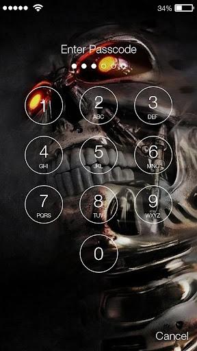 ... Skull Flame Fire Pirate Lock Wallpaper Phone PIN screenshot 2 ...