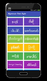 Mi Myanmar Font Styles for PC-Windows 7,8,10 and Mac APK 1 6