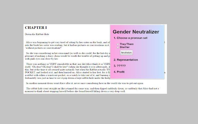 Gender Neutralizer