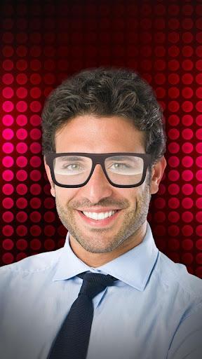 眼鏡自分撮りのフォトエディタ