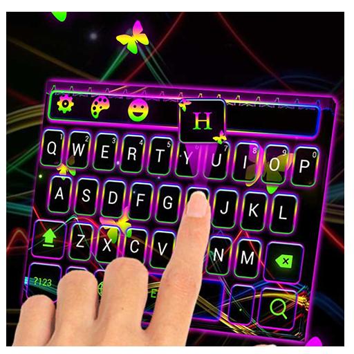 Neon ray keyboard