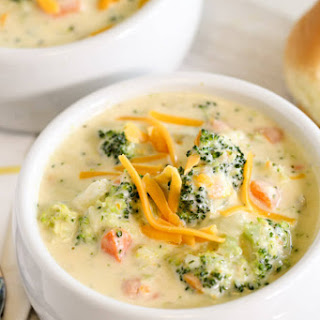 20 Minute Broccoli Cheese Soup.