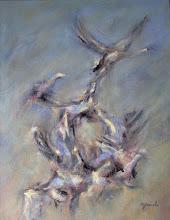 "Photo: Flock of birds (22"" X 28"")"