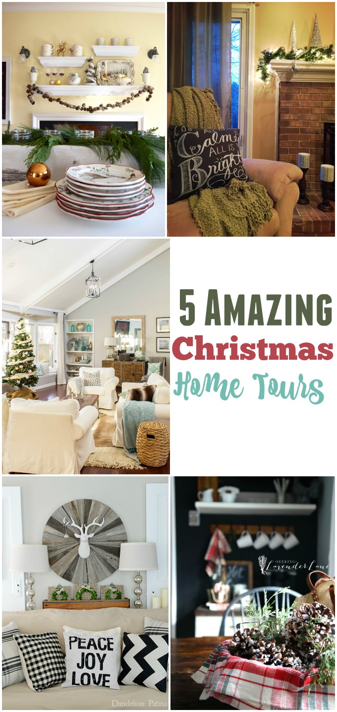 Five amazing Christmas Home Tours!!!
