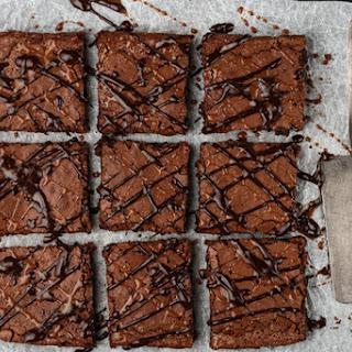 Easy Dark Chocolate Caramel Brownies.
