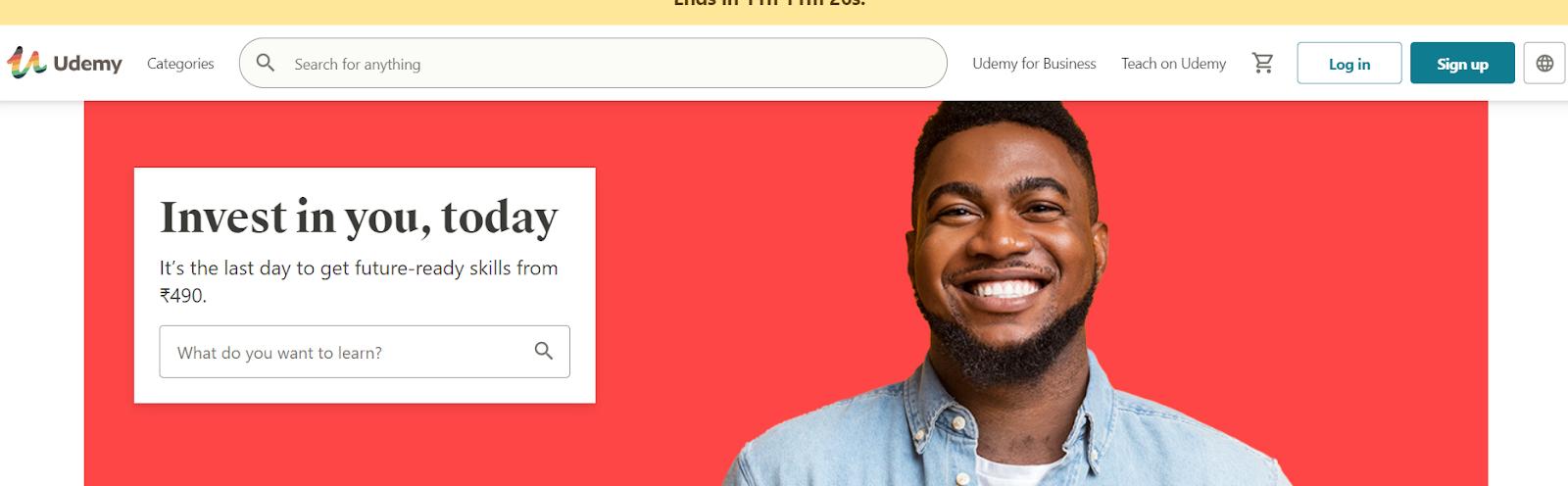 Screenshot of Udemy - Cohort based course platform