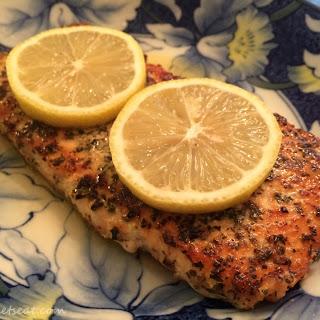 Easy Salmon with Lemon and Basil.