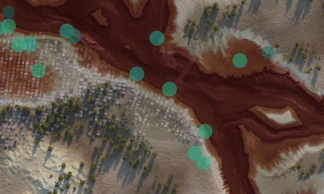 Simulation of Google's flood forecasting technology