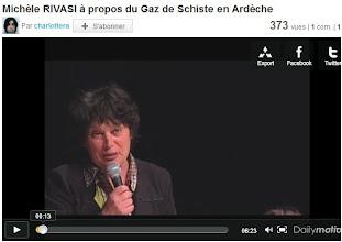 Photo: 21/01/11..Montelimar. M.RIVASI.discours d'ouverture, informations sur le gaz de schiste. http://www.dailymotion.com/video/xgxsod_michele-rivasi-a-propos-du-gaz-de-schiste-en-ardeche_news