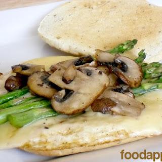 Asparagus, Mushroom and Swiss Egg White Sandwich (Einstein Copycat)