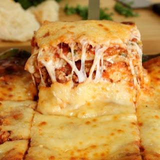 Beef and Sausage Lasagna.