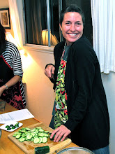 Photo: Jenn slicing cucumbers