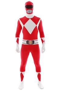 Morphsuit Power Rangers, röd