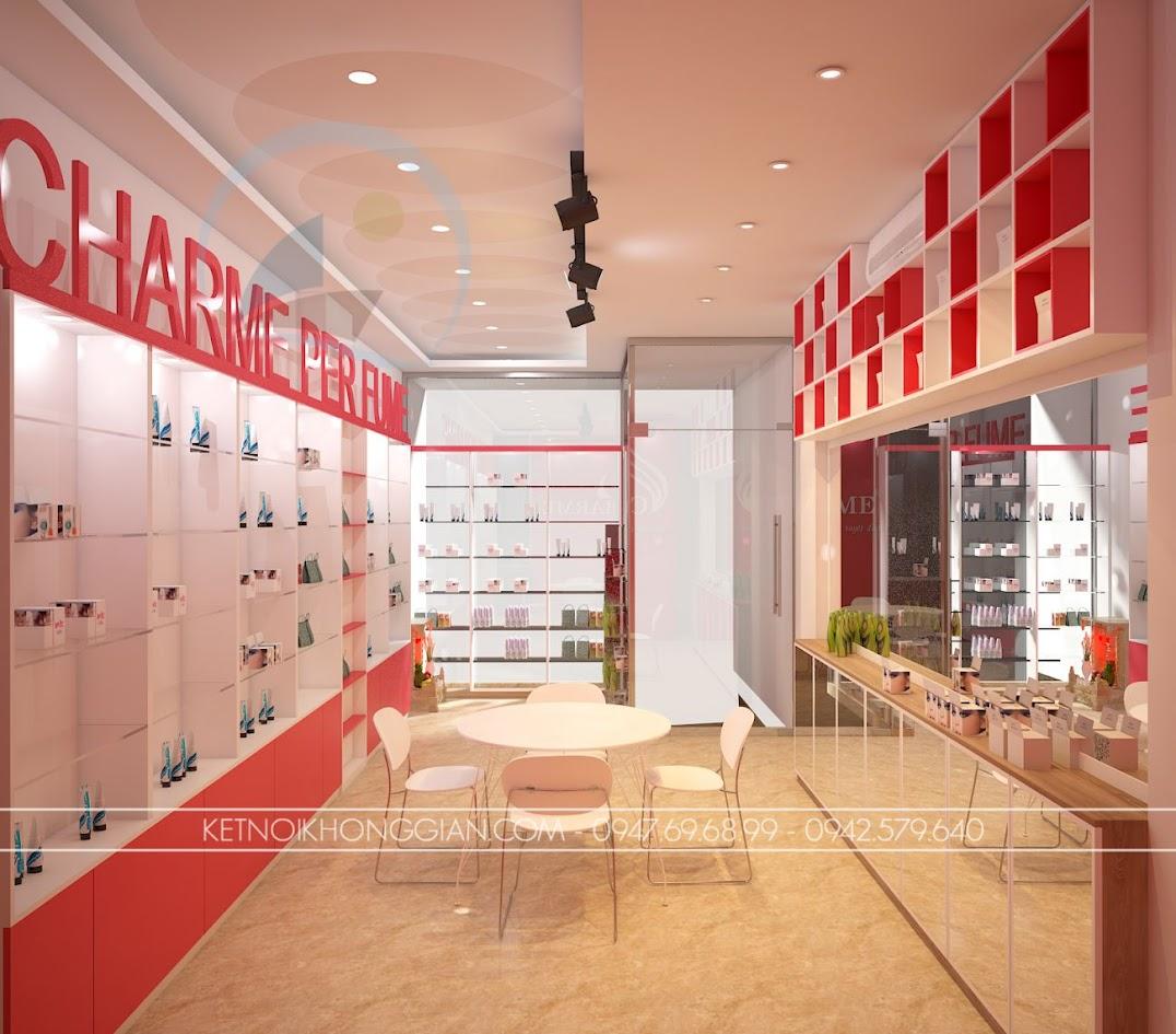 thiết kế shop nước hoa charme 3