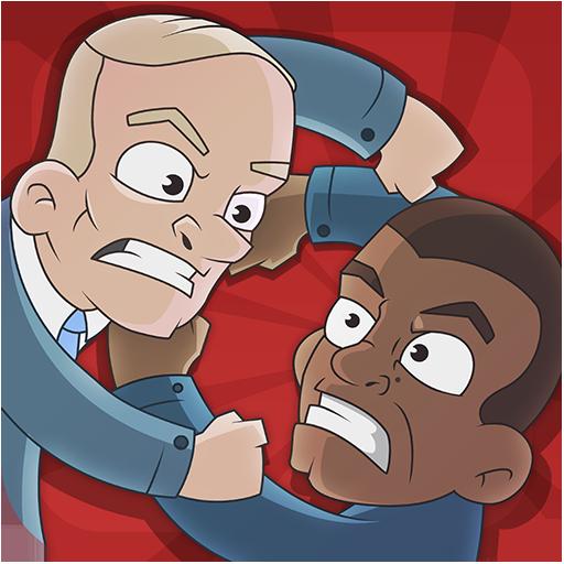 动作のタフ政治殴り合い LOGO-記事Game