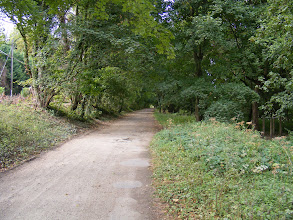 """Photo: The Chemin du Bord de l""""Eau path I am walking is a very pleasant stroll on a sunny and crisp September afternoon."""
