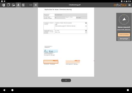 eDocBox mit eSignatur - náhled