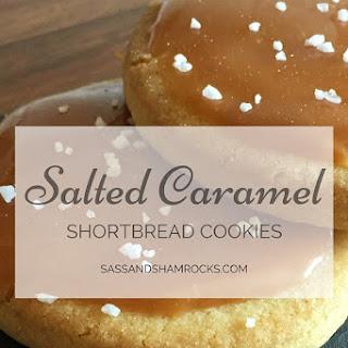 Salted Caramel Shortbread Cookies