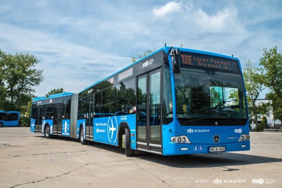 jak dojechać z lotniska do centrum Budapesztu, autobus, 100E, Budapeszt, lotnisko