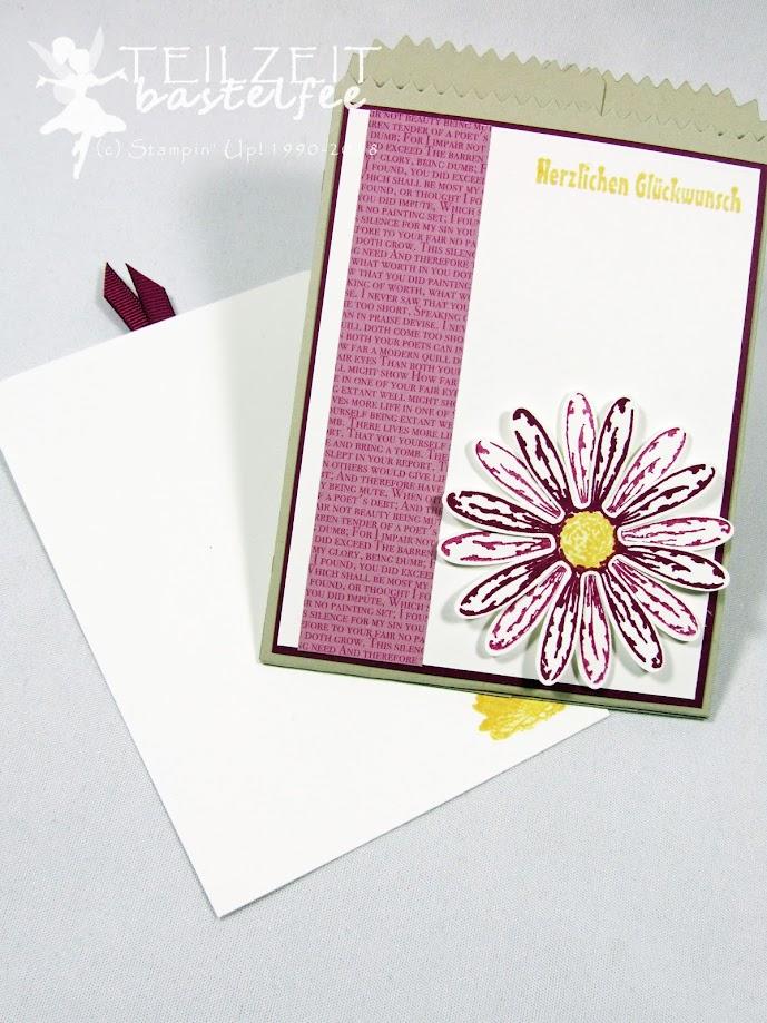 Stampin' Up! - IN{K}SPIRE_me Color Challenge #345, Daisy Punch, Daisy Delight, Stanze Gänseblümchen, Gänseblümchengruß, Mini Treat Bag Thinlits, Mini-Leckereientüte