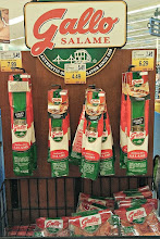 Photo: As I turned around I spotted this salame display, this would be a great with cheese and crackers as an appetizer.