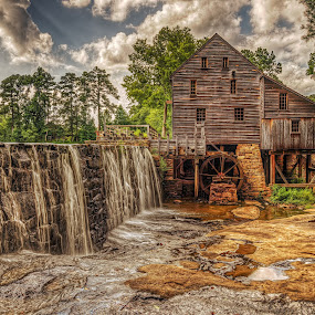 Yates Mill by Jeremy Yoho - Buildings & Architecture Public & Historical ( water, mill, waterfall, rock, historic )