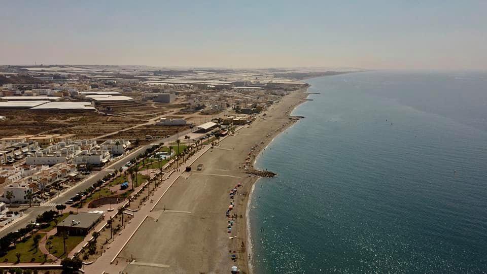 Vista aérea de las playas de Balerma.