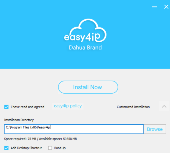 Phần mềm Easy4ip dành cho Windows