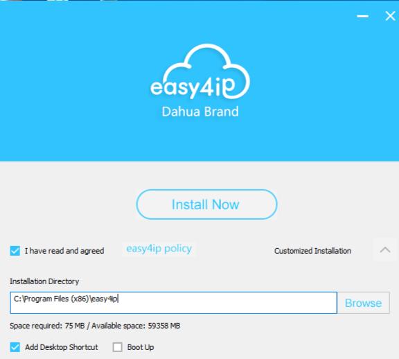 Phần mềm Easy4IP cho windows