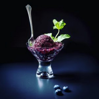 Lemon- Blueberry Sorbet.