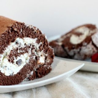 Hot Cocoa Angel Food Cake Roll.