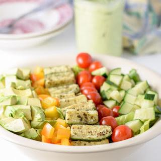 Beautiful Boston Lettuce Vegetable Salad.