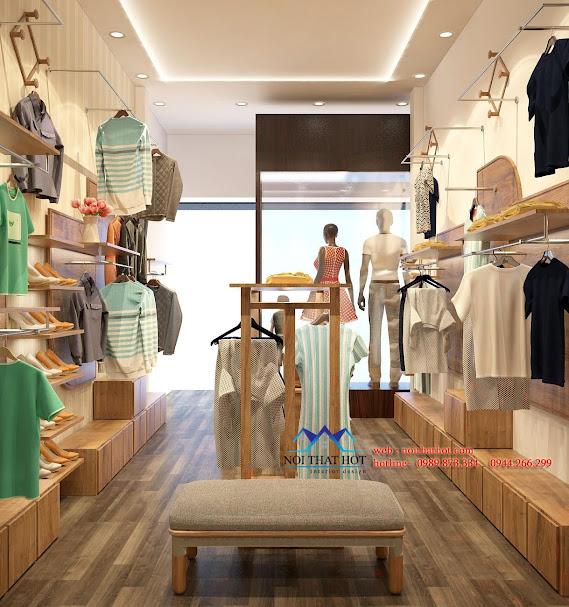 thiết kế cửa hàng thời trang có chiều sâu