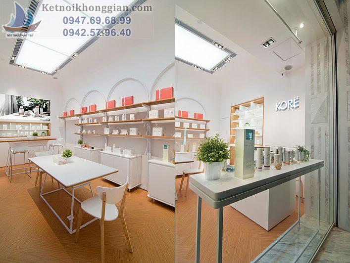 thiết kế shop mỹ phẩm đẹp tại Hà Nội