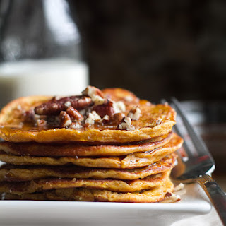 Sweet Potato Greek Yogurt Pancakes