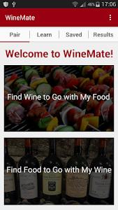 WineMate - Food + Wine Pairing screenshot 0
