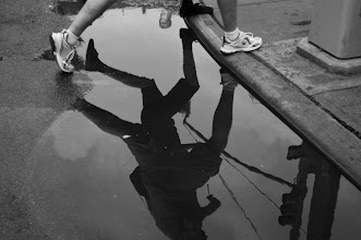 Photo: Astor Place, NYC #streetphotography #reflections #blackandwhitephotography  www.leannestaples.com