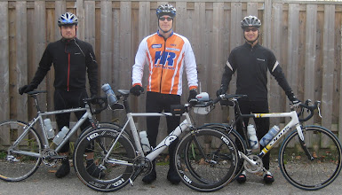 Photo: Vi, Chris, Roland - out for a ride in the fall while training for IronPunta 2010
