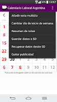 Screenshot of Calendario 2016 Argentina