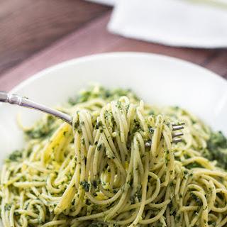 Spaghettini with Creamy Kale Sauce
