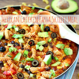 Mexican Chicken Pasta Skillet Meal.