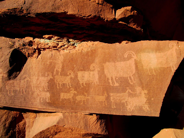 Petroglyphs in Horseshoe Canyon