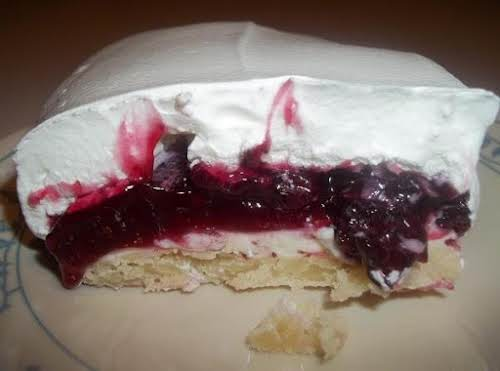 "Click Here for Recipe: Luscious Blackberry Cream Cheese Dessert ""This is sooooo..."