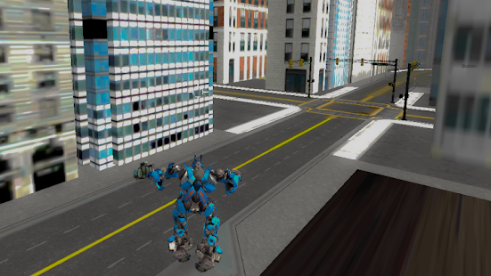 Robots Fighting In Street 3