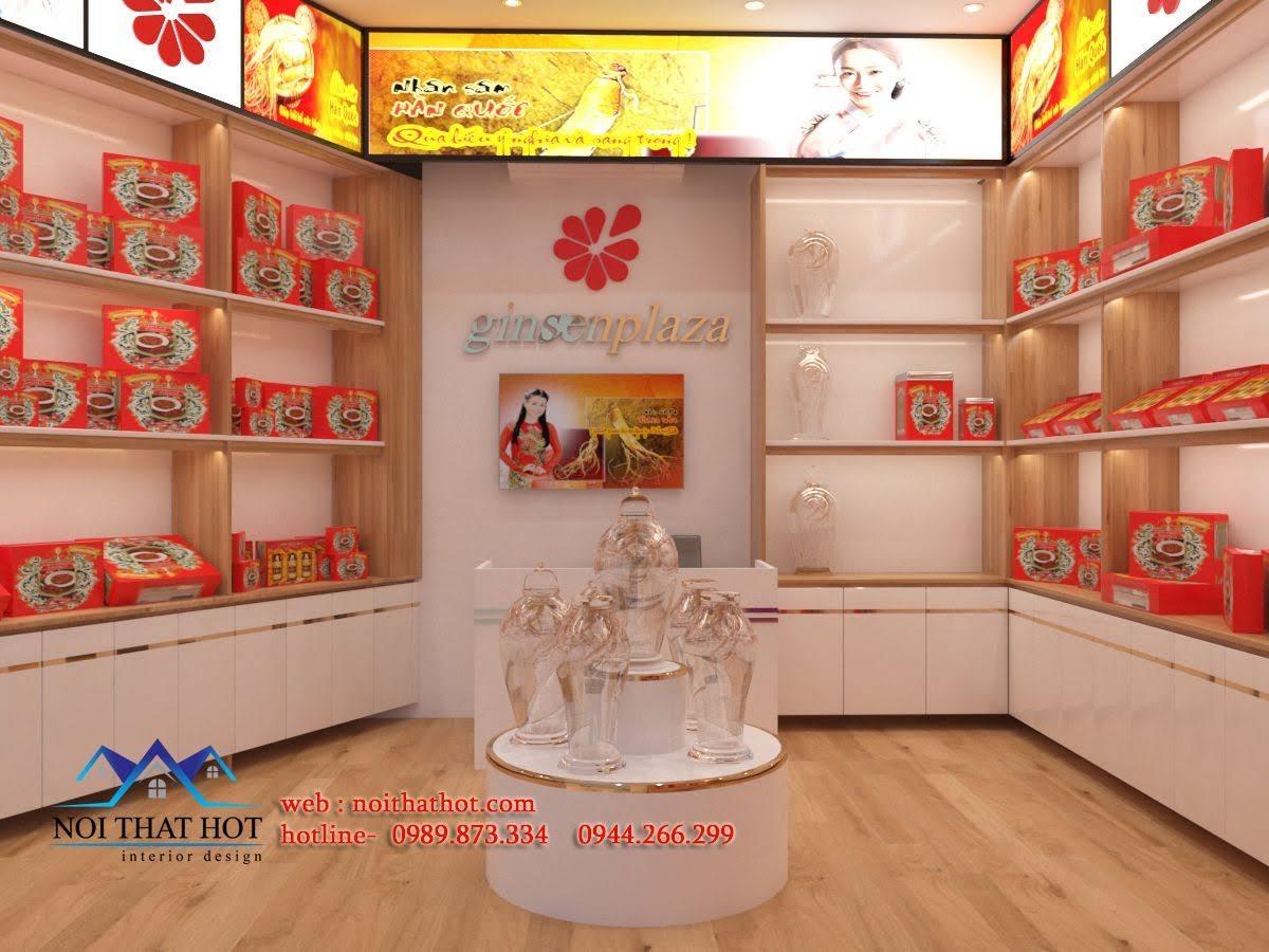 Thiết kế cửa hàng sâm Ginsenplaza.com 1